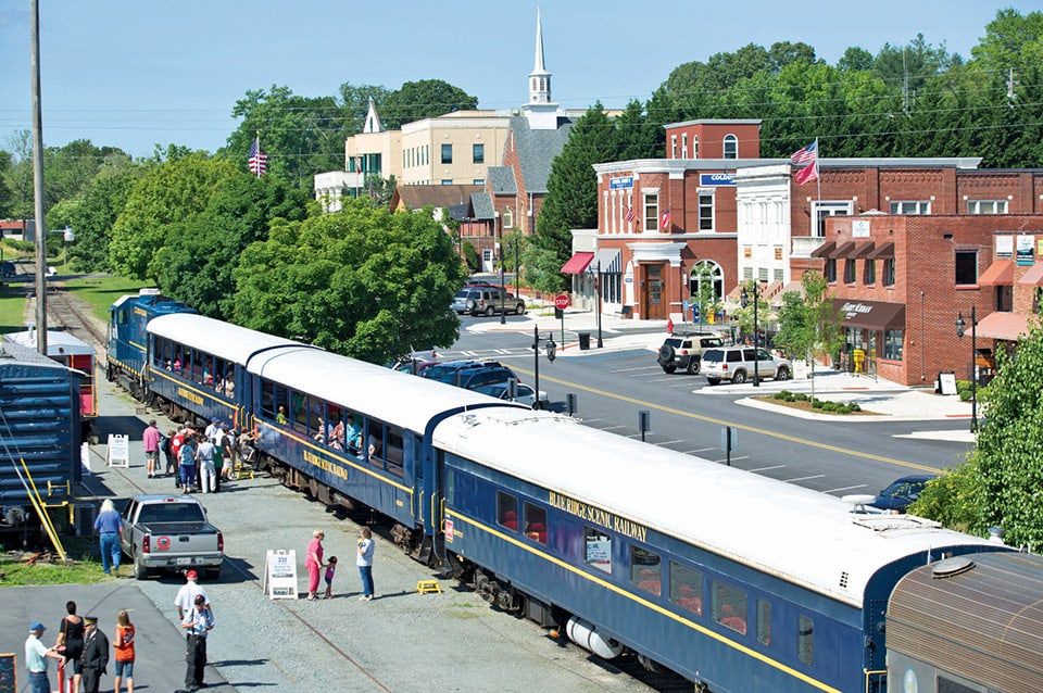 blue ridge downtown and train