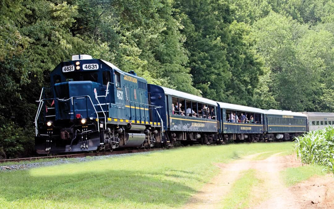 Georgia Mountain Parkway - The Blue Ridge Scenic Railway takes visitors on a scenic ride from Blue Ridge, Georgia to Copperhill, Tennessee