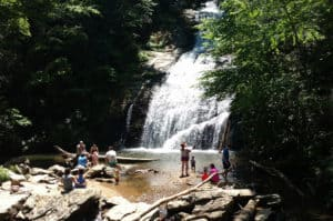 Georgia Mountain Parkway - Helton Creek Falls is a popular destination in Blairsville, Georgia — especially on hot summer days