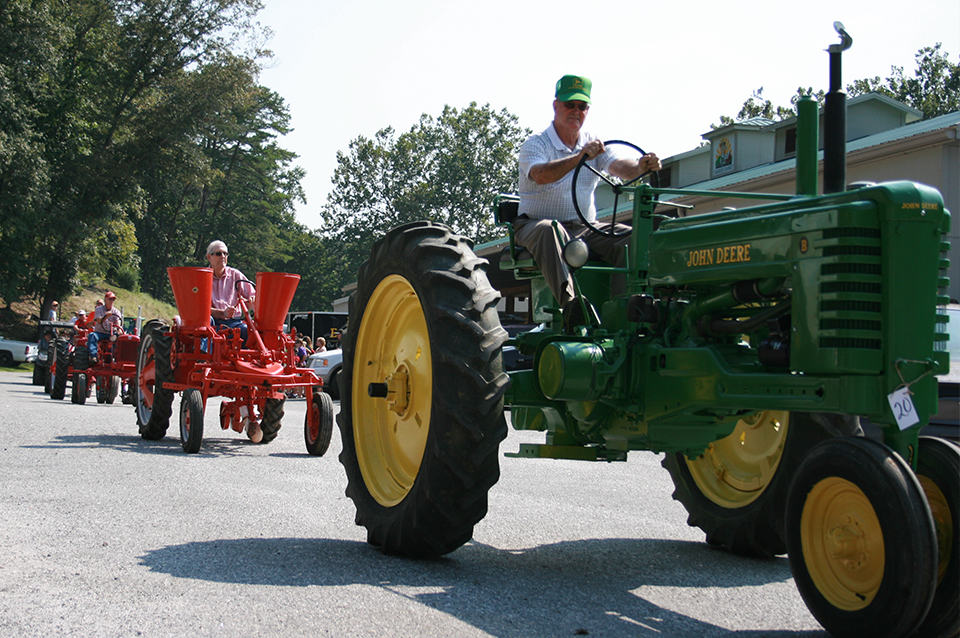 Georgia Mountain Parkway - Tractor parade at the Union County Farmers Market in Blairsville, Georgia